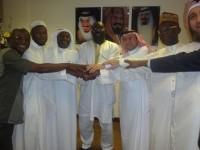 Moijue Kaikai and team with Saudi Hajj authorities