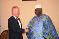 HE with EU Head of delegation Amb. Peter Versteeg