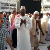 Amb. Kargbo praying against ebola in Islam's most holiest Mosque