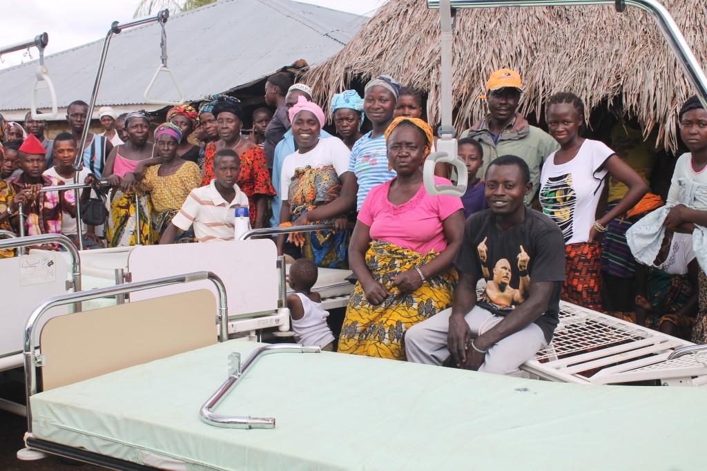 Hospital beds and mattresses put on display at Gandorhun