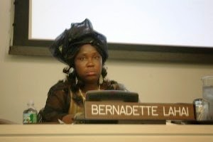 Dr Bernadette Lahai, Vice President,  Pan African Parliament and Minority Leader, Parliament of Sierra Leone