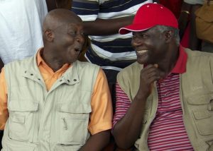 Charles Margai and President Ernest Bai Koroma during the early days of their alliance against SLPP