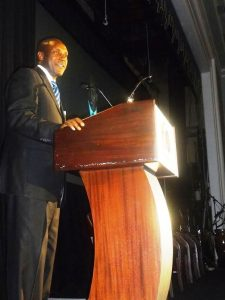 Dr. Kandeh Yumkella delivers Distinguished Alumni Awards acceptance speech