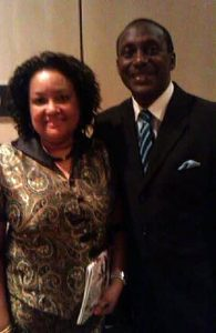 Dr. & Mrs Kandeh Yumkella at Africa America Institute's 60th Anniversary Gala Awards in New York City