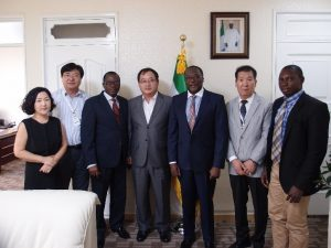 Group Photo featuring H.E. Ambassador Golley and Chairman Ko together with officials of the Sierra Leone mission in Seoul and Younghaw Development Industry Limited
