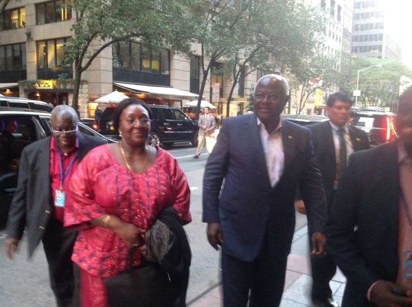 President-Koroma and First Lady with delegation arrived in New York on Saturday for 70th UN General Assembly