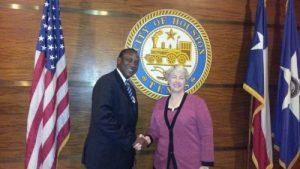 KKY meeting the Mayor of Houston, Texas