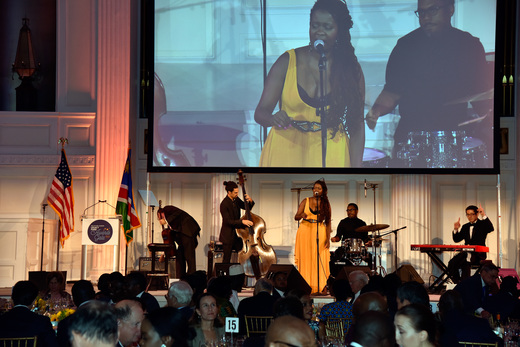 Acclaimed East African songwriter & vocalist, Somi entertains guests at Africa-America Institute Future Leaders Legacy Fund Awards Gala in New York