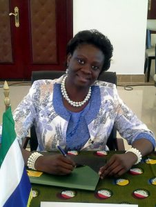 Dr. Sylvia Blyden, Minister of Social Welfare, Gender and Children's Affairs