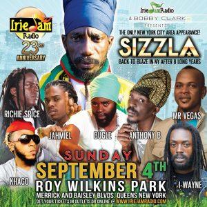 Irie Jam 23rd anniversary concert flyer