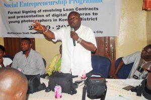 Mr Sandy Kongo Sama, Regional Coordinator, National Youth Commission, Speaking