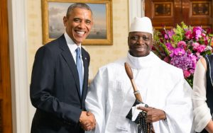 Jammeh and Barack Obama