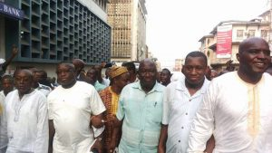 A united SLPP matching in the street of Freetown