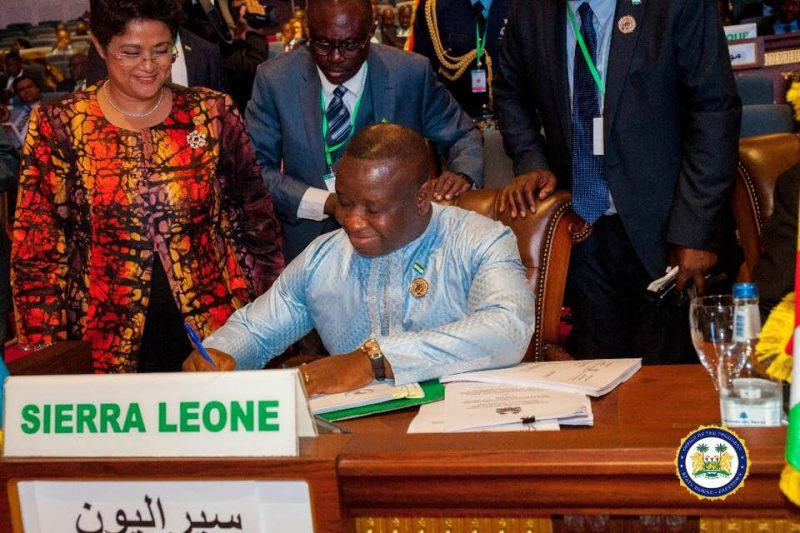 President Bio Signs African Continental Free Trade Agreement