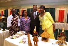 Board of Equalization Chairman Jerome Horton (in suit) with exhibitors at the 2012 Ivory Coast in L.A. Business Conference and Expo