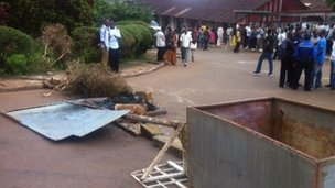 students riot in freetown